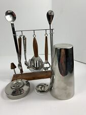 New listing Mr. Bartender Cocktail Mixing Bar Set And Stand Stainless Japan Vintage