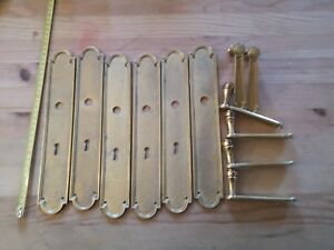 SPLENDID 3 PAIRS OF  FRENCH BRONZE ORMULU  DOORS PLATES AND HANDLES EMPIRE STYLE