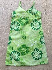 NEW GREEN HAWAIIAN MUUMUU HULA SUMMER SUN DRESS GIRL SIZE 7
