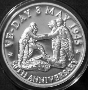 Turks & Caicos 20 crown Silver Proof 1995 World War II WW Troops Meet