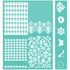 New Cricut Cuttlebug Embossables Pattern & Icon Folder, Girly Girl