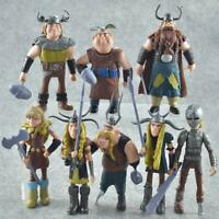 Movie How to Train Your Dragon 8 pcs Figures Hiccup Astrid Stoick /& Ruffnut