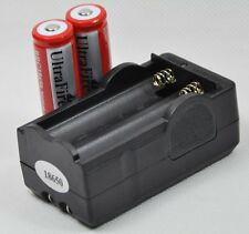 US Rechargeable 2x18650 3000mAh 3.7V Li-Ion Battery Charger Combo for Flashlight