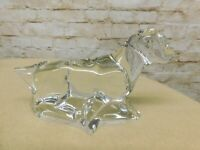 BACCARAT Crystal Pointer Labrador Hunting Retriever Dog Marked Figurine signed