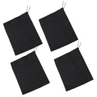 20 pcs Shoes Bags Non-woven Dustproof Black Portable Storage Bag for Daily Use