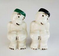Vtg Monkey Bone China Salt & Pepper Shaker Set