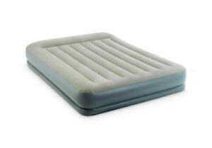 Intex Dura-Beam Inflatable Double Mattress Air Bed with Built In Electric Pump