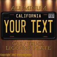 1969 Tribute Black California YOUR TEXT Customized Aluminum Vanity License Plate