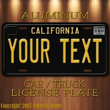 1969 Tribute Black California YOUR TEXT Customized Aluminum Vanity License Plate