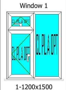 UPVC Flush Sash Casement Windows