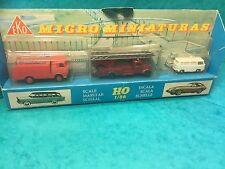 Eko toy set boxed micro miniaturas HO 1/86 fire rescue?set fire brigade London?