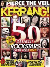 KERRANG MAGAZINE NUMBER 1626 ~ 50 GREATEST ROCK STARS ~ ROCK ON TRIAL ~ NEW