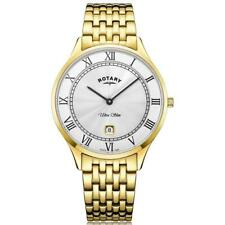 Rotary Ultra Slim Gold Plated Steel Mens Watch GB08303/01