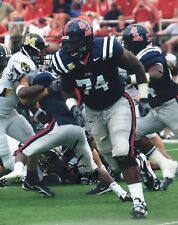 MICHAEL OHER OLE MISS REBELS SIGNED 8X10 PHOTO COA #2