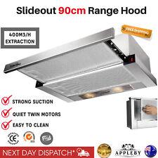 900mm 90cm Rangehood Stainless Steel Slide Out Range Hood Kitchen Kitchen Canopy