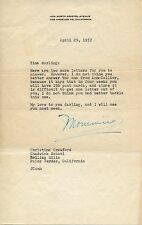 JOAN CRAWFORD Autographed Signed Letter Academy Award Oscar Mommie Dearest