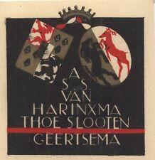 Ex Libris Jeanne Bieruma Oosting : Opus 53a, A.S.S. van Harinxma Thoe Slooten ..
