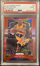 2019-20 Panini Red Prizm #8 Kobe Bryant Los Angeles Lakers HOF /299 PSA 9