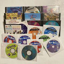 Huge Lot Of Vintage Education Software, Edutainment School Learning, 1994-1999