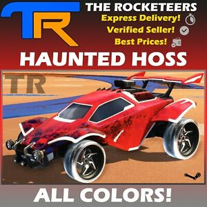 [PC] Rocket League Every HAUNTED HOSS Limited Wheels Rocket Pass 10 White etc.