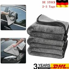 4X Auto Lackschonende Mikrofasertücher Handtuch Autopflege Poliertuch Waschtuch