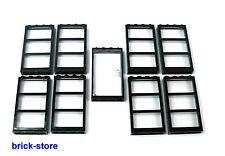 Lego ® gran ventana set/Top/transparente claro ventana 1x4x6 8 unidades/1x puerta