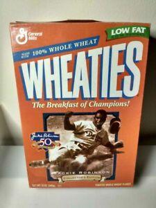 Jackie Robinson 1997 Wheaties Box Dodgers 50th Ann still sealed ! FLAWS PLZ read