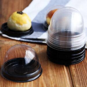 100Pcs Clear Plastic Mini Cupcake Boxes Cake Packing Boxes Muffin Pod Dome Box