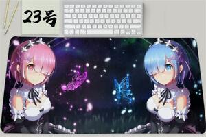 New Re:Zero Rem Ram Large Mouse Pad Mat Mousepad Keyboard Desk Mat  60x30cm Gift