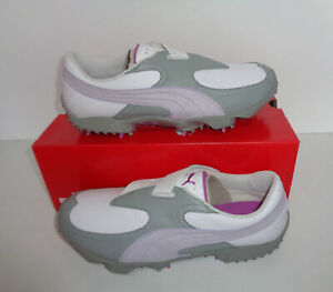 Puma PG SL Womens Ladies Golf Shoes Trainers Spikes Pink New RRP £85 Sizes 3.5-8