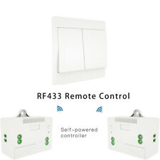 RF433 Wireless Remote Control Kinetic Self-powered No Battery Wall Light Switch
