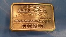 Jackass Leather Co. Brass Belt Buckle - Vintage Collectible, Very Good Condition