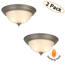2 LIGHT FLUSH MOUNT LIGHTING FIXTURE Ceiling Lamp Decor Oil Rubbed Bronze 2 PACK