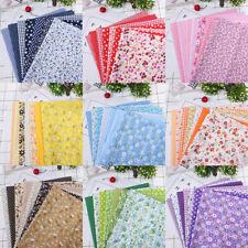7pzas Floral Patchwork Tela de Algodón Liso Paño para Diy Costura Acolchado