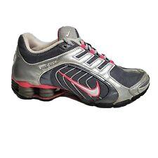 Nike Shox Navina Womens Grey Pink Low Top Running Shoes Size 7.5