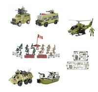 LARGE KIDS ARMY VEHICLE SOLDIERS HELICOPTER TANK GUN BOYS MILITARY PLAYSET