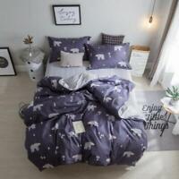 3D Polar Bear Navy Blue KEP8630 Bed Pillowcases Quilt Duvet Cover Kay