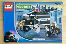 Lego 7033 INSTRUCTION BOOK: Police Armored Van * BOOK ONLY, NO LEGO
