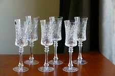 SWEDISH pattern,Tall, 24% Lead CRYSTAL wine glasses/ GOBLETS, Set of 6, Russia