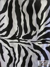"ANIMAL PRINT SATIN FABRIC-Zebra- 60"" SOLD BTY SILKY"