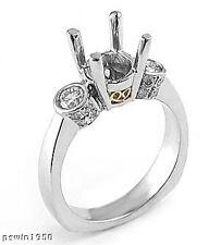 1/2CT DIAMOND ENGAGEMENT RING SEMI MOUNT 14K W GOLD