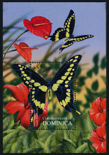Dominica 2489 MNH Butterflies, Flowers