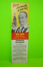 Bob Hope Hires Root Beet 1961 Original NOS Carton Insert Bachelor In Paradise