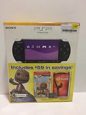 Sony PSP 3000 LITTLE BIG PLANET Piano Black Console Bundle NEW SEALED
