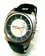 Casio Men's Watches New Model Leather Band Analog Quartz MTF-117L-7A Day Date