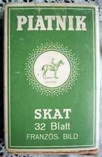 Vintage Skatspiel - Ferd. Piatnik & Söhne Wien XIV. 32 Blatt Franz. Bild