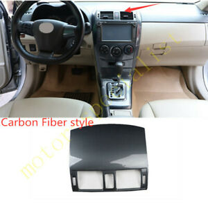 Carbon fiber central console air outlet vent cover For Toyota Corolla 2007-2013