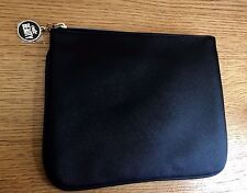 CULT BEAUTY CLASSIC FAUX BLACK LEATHER MAKE UP COSMETICS BAG -RRP£20 - New