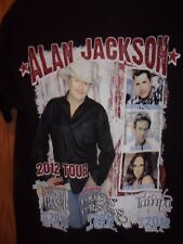 Alan Jackson David Nail Jana Kramer 2012 tour black M t shirt
