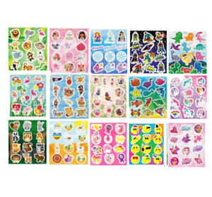 Childrens Party Bag Stickers Sticker Sheets Kids Fillers 18 Designs 2 - 60 Packs